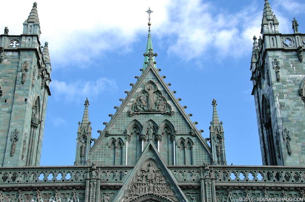 Nidarosdomen or Nidaros Cathedral in Trondheim, Norway