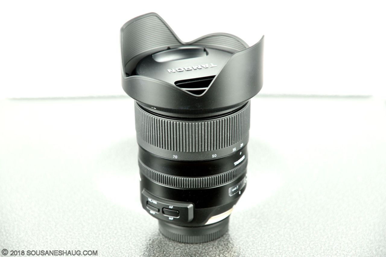 Tamron SP 24-70 f/2.8 VC USD G2, calibrating the lens with Tap-InConsole
