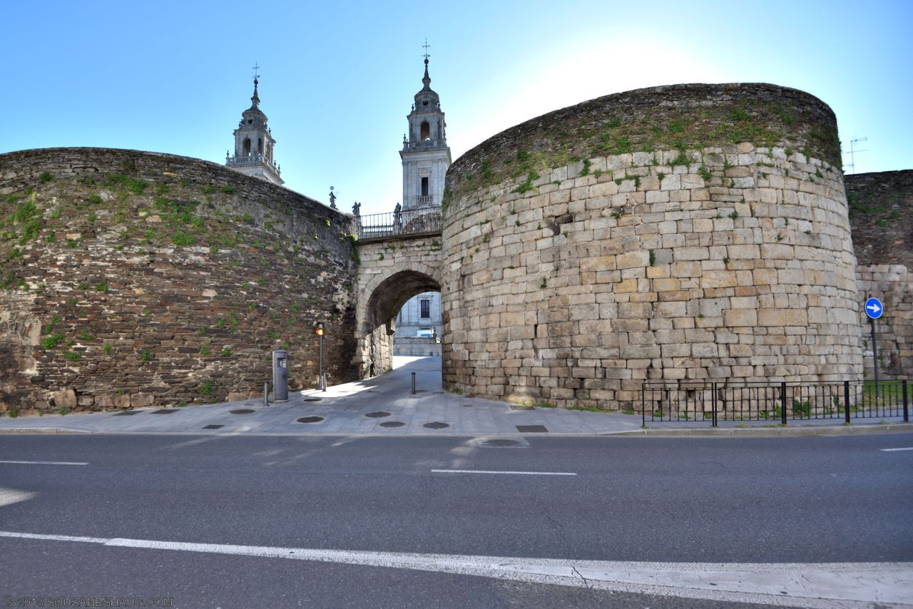 The Roman Wall of Lugo, Spain
